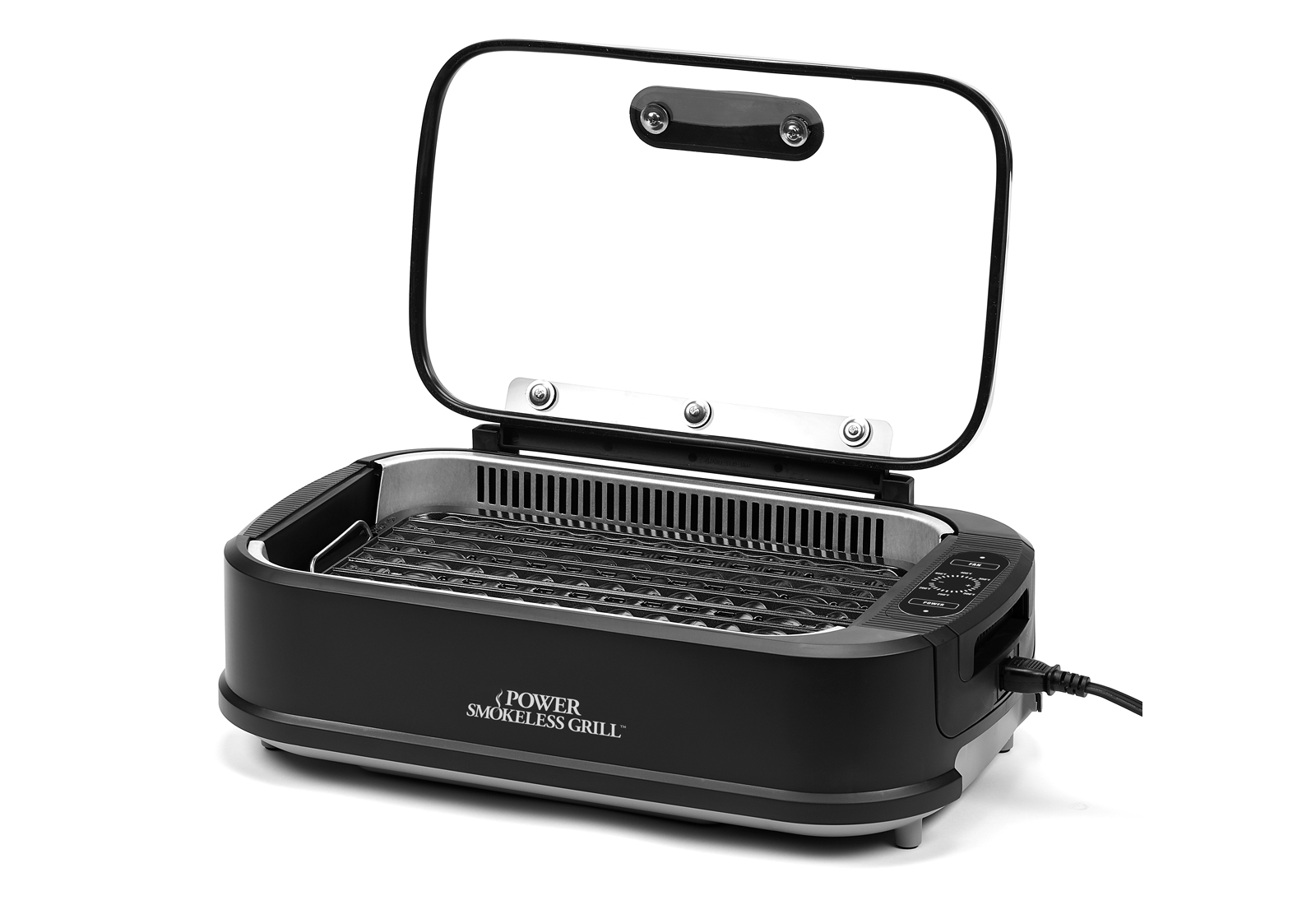 Power Smokeless Grill with Hinged Lid Product Image
