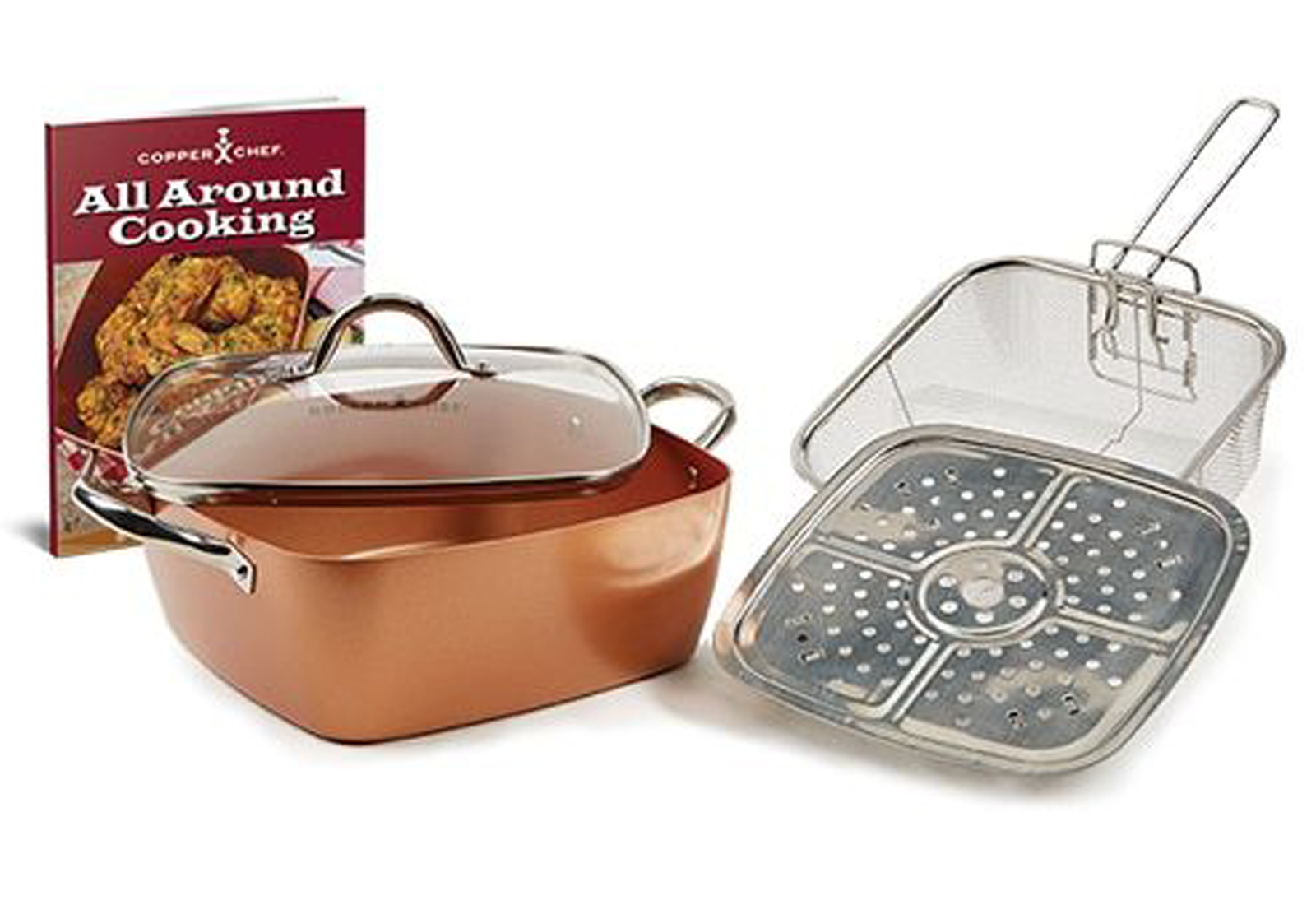 Copper Chef XL 11 In Casserole Pan 5PC Set Product Image
