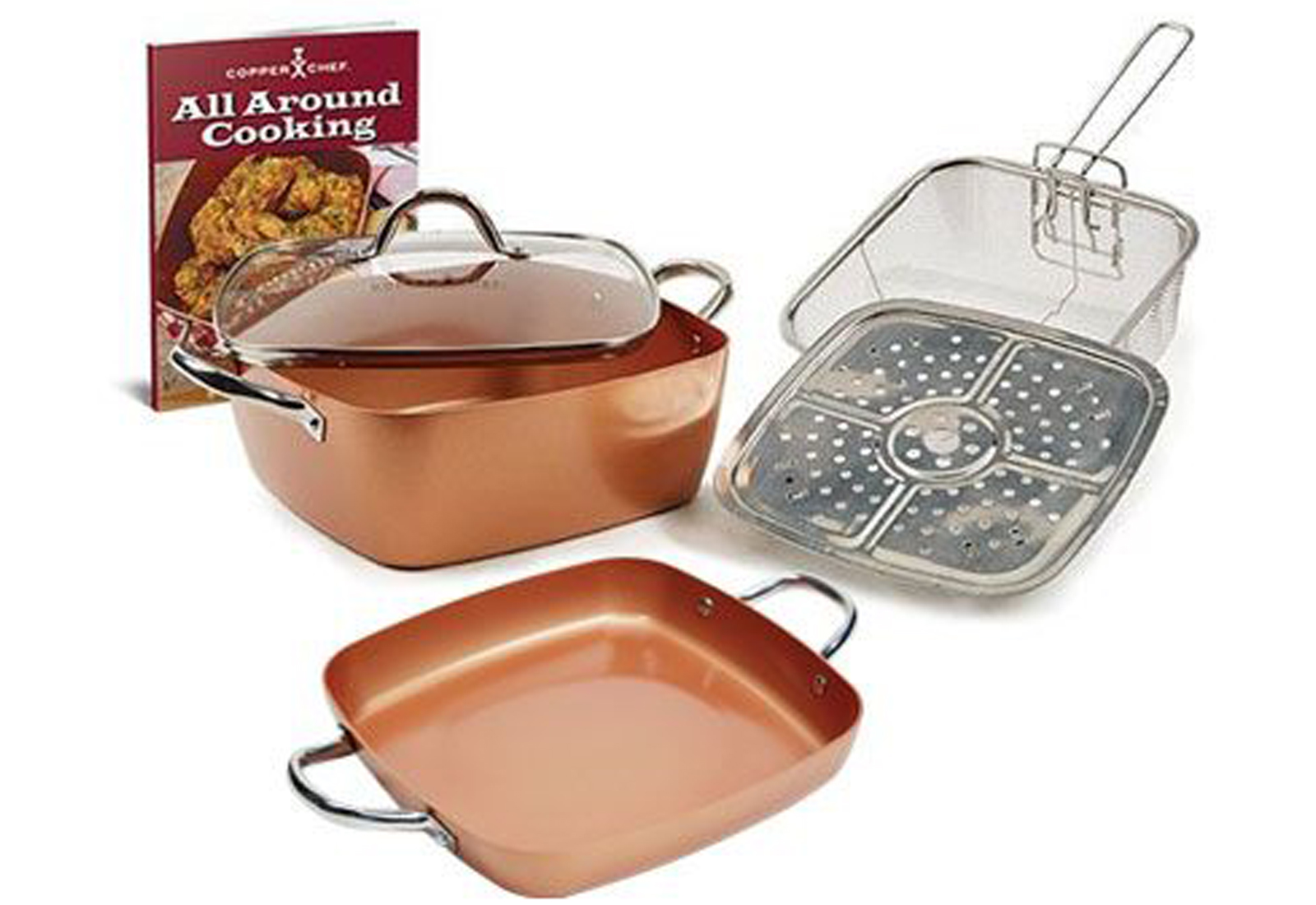 Copper Chef XL 11 In Casserole Pan 6PC Set Product Image